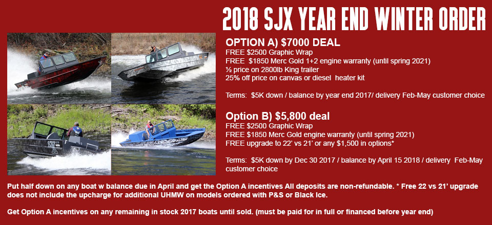 Sjx Banner Ad Winter Sale Sjx Boats