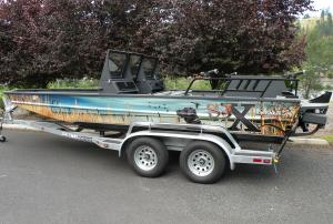 cat tails duck boat